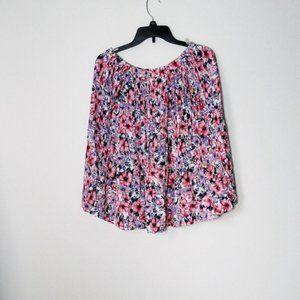 4/$30 Vintage Floral Pleated Skirt Worthington